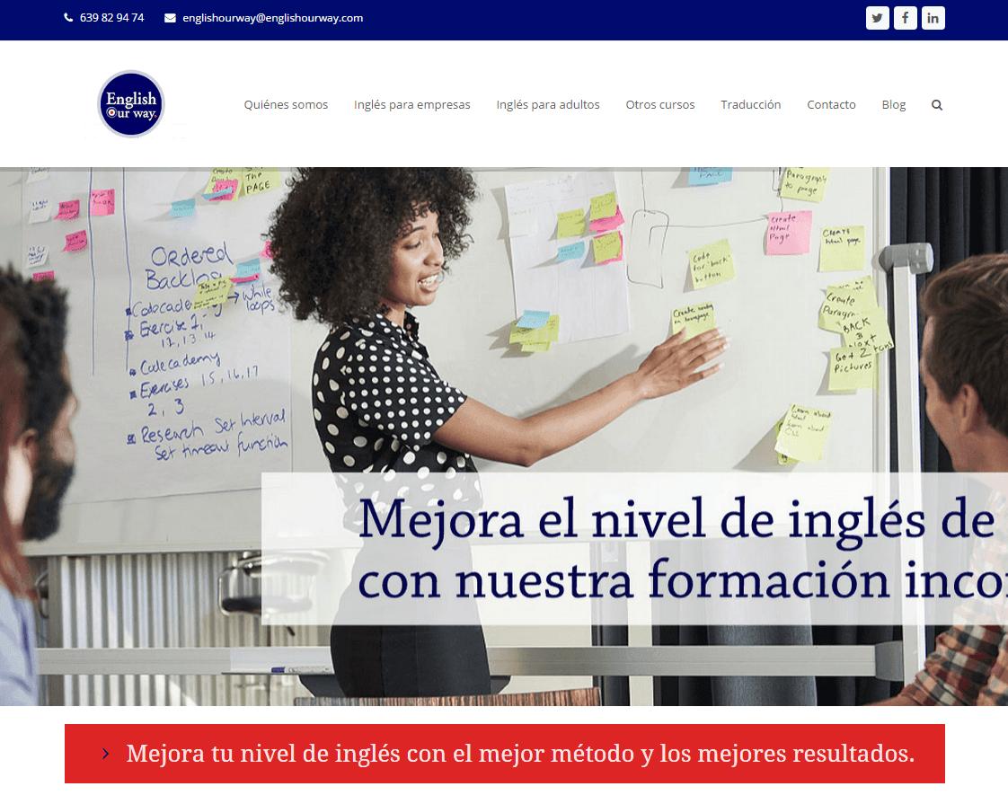 Estrena Web English Our Way Ingles Incompany